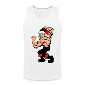 Body building Santa Claus, funny christmas Sports wear - Men's Premium Tank Top