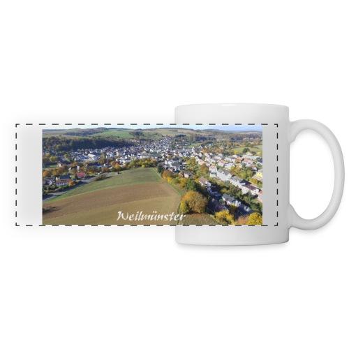 Kaffeepott mit Luftbild Mein Ort Weilmünster - Panoramatasse