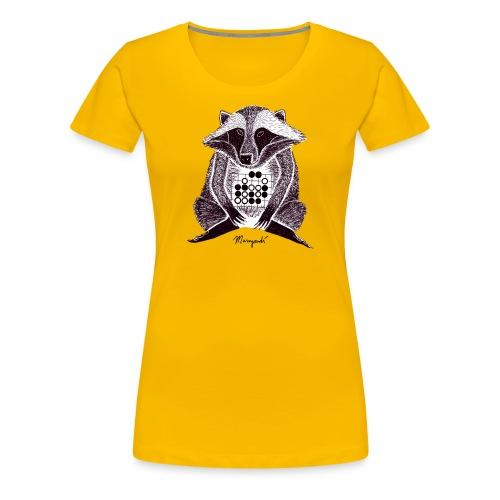 Raccoon Dog Tesuji - Women's Premium T-Shirt