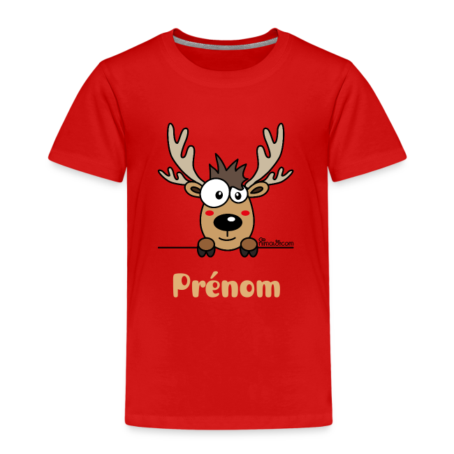 nimal pr noms t shirt p enfant renne personnaliser t shirt premium enfant. Black Bedroom Furniture Sets. Home Design Ideas
