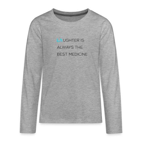 Longsleeved 'Laughter' - Teenagers' Premium Longsleeve Shirt