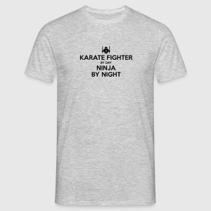 karate fighter day ninja by night - Men's T-Shirt