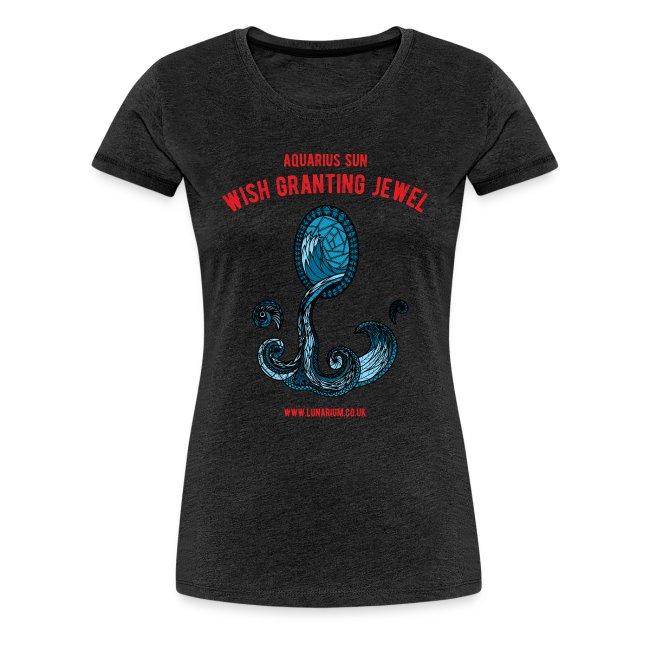 Aquarius Sun Women's Premium T-Shirt