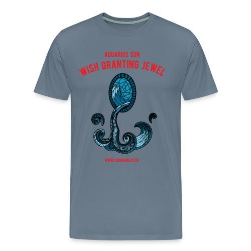 Aquarius Sun Men's Premium T-Shirt - Men's Premium T-Shirt