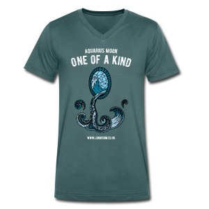 Aquarius Moon Men's V-Neck T-Shirt  - Men's Organic V-Neck T-Shirt by Stanley & Stella
