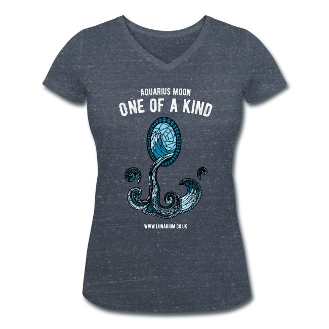 Aquarius Moon Women's V-Neck T-Shirt