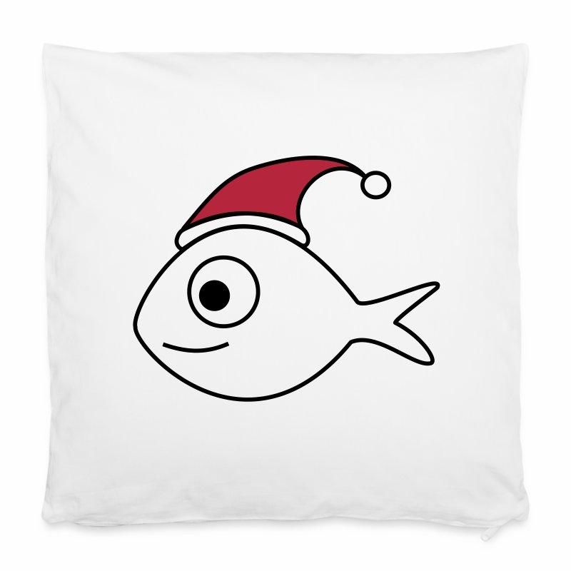 weihnachtsfisch weihnachten fisch kissenbezug fischwiese. Black Bedroom Furniture Sets. Home Design Ideas
