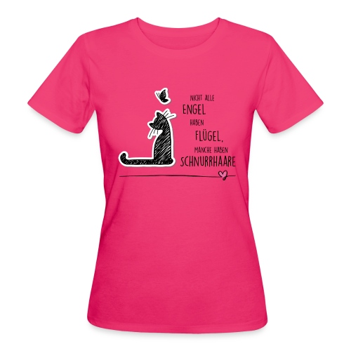 Cat Angel - Frauen Bio-T-Shirt - Frauen Bio-T-Shirt