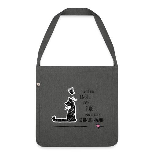 Cat Angel - Schultertasche aus Recycling-Material - Schultertasche aus Recycling-Material