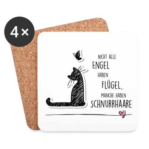 Cat Angel - Untersetzer (4er-Set) - Untersetzer (4er-Set)