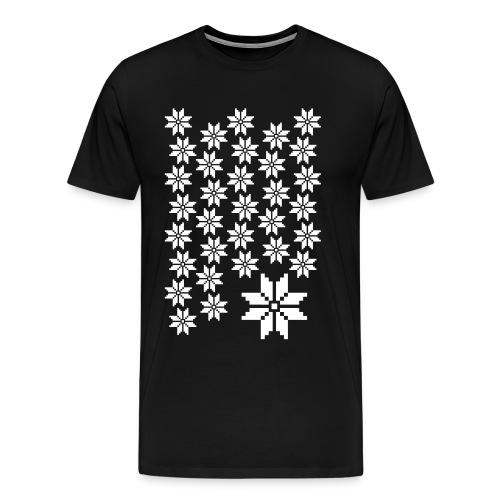 33 Schneeflocken Norweger Muster - Männer Premium T-Shirt