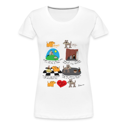 Krumpit and Cheez - Womens Premium Tee - Women's Premium T-Shirt