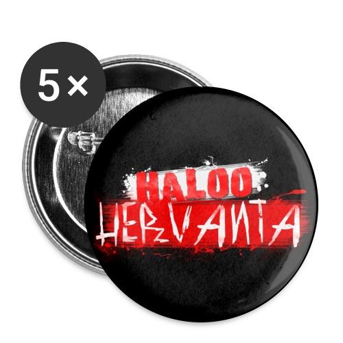 HALOO HERVANTA Rintamerkki - Rintamerkit isot 56 mm (5kpl pakkauksessa)
