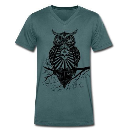 Hiboux psychédélique - T-shirt bio col V Stanley & Stella Homme