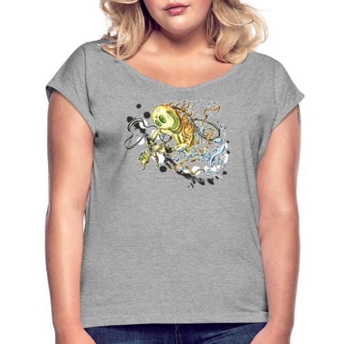Tattoofreak - Frauen T-Shirt mit gerollten Ärmeln