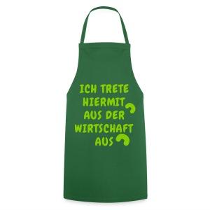Die grün grüne Kochschürze nach der Wirtschaft in der Küche ab in die Wirtschaft im Garten - Kochschürze