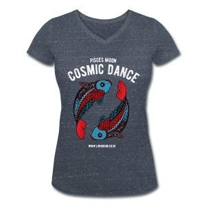 Pisces Moon Women's V-Neck T-Shirt - Women's Organic V-Neck T-Shirt by Stanley & Stella