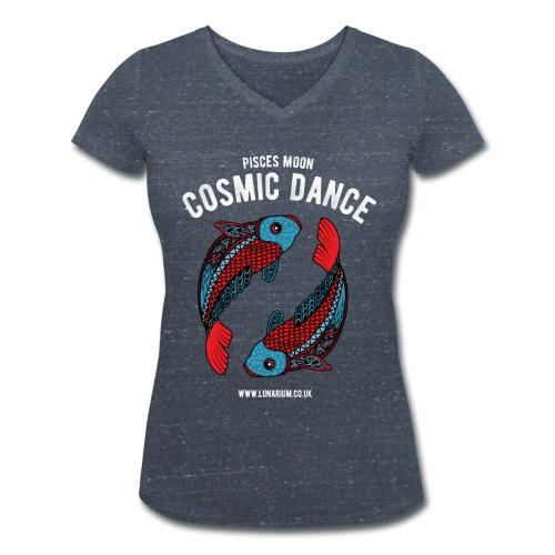 Pisces Moon Women's V-Neck T-Shirt - Women's Organic V-Neck T-Shirt by Stanley & Stella