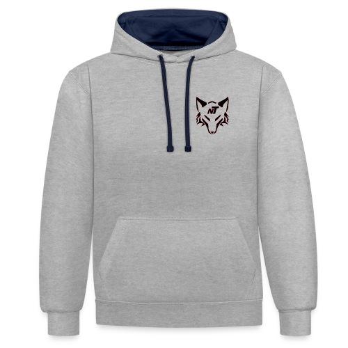 Nibbeltime Hoodie Logo in Rot - Kontrast-Hoodie
