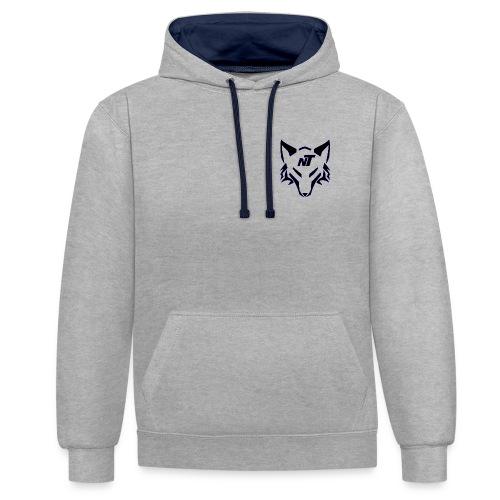 Nibbeltime Hoodie Logo in Blau - Kontrast-Hoodie