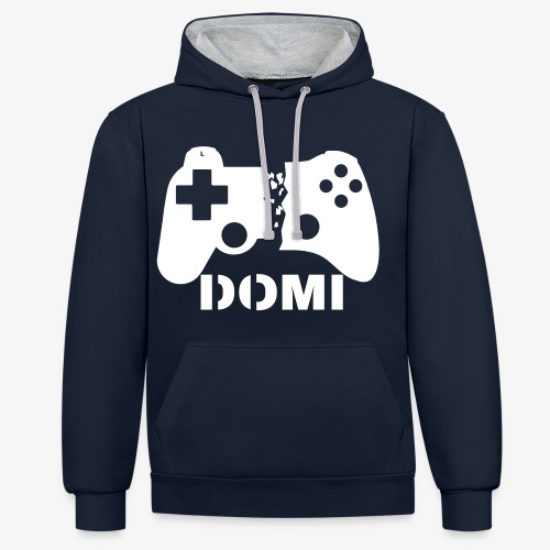 DER WARME - WHITE-SNOW-EDITION - Kontrast-Hoodie