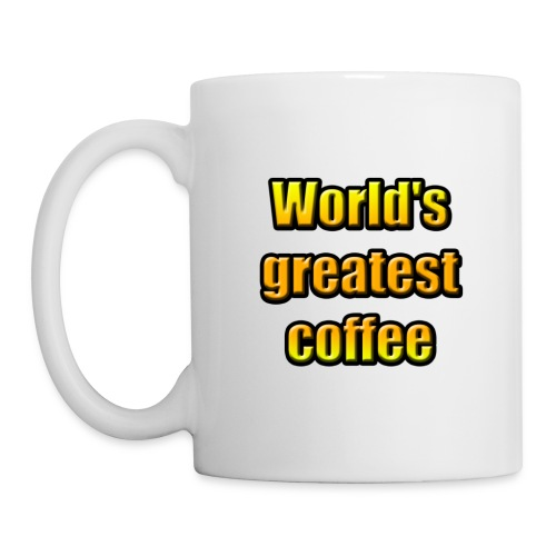 World's greatest coffee (White Edition) - Mug blanc