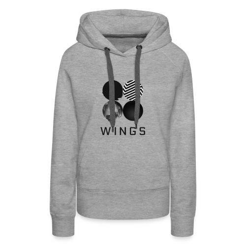 BTS-WINGS Sweat Shirt Femme - Sweat-shirt à capuche Premium pour femmes