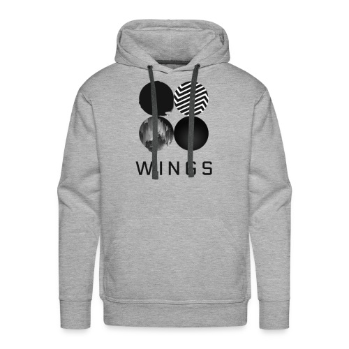 BTS-WINGS Sweat Shirt Homme - Sweat-shirt à capuche Premium pour hommes