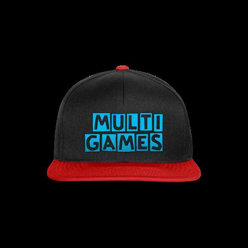 Multi Games cap blauw - Snapback cap