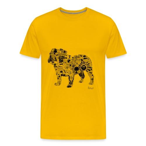 Bulldog (Black) - Mens Premium Tee - Men's Premium T-Shirt