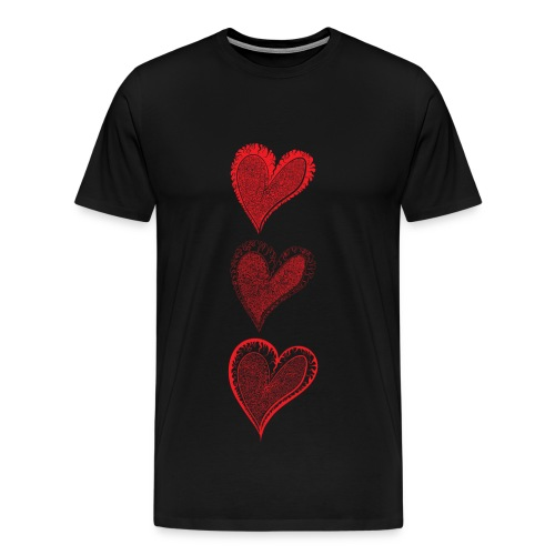 3 Curly Hearts - Mens Premium Tee - Men's Premium T-Shirt