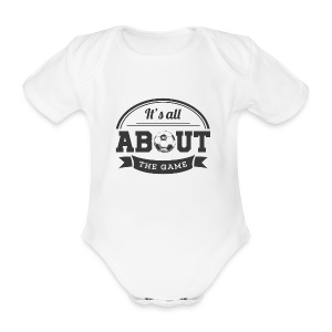 JNO Black Text Baby Bodysuit - Organic Short-sleeved Baby Bodysuit