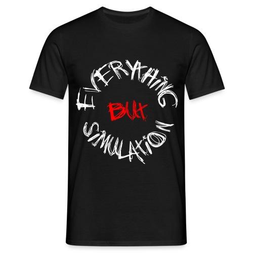 'Everything But Simulation' Logo T-Shirt - Black - Men's T-Shirt