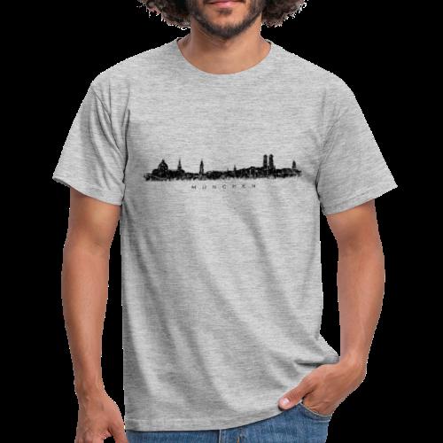 München Skyline (Vintage/Schwarz) T-Shirt - Männer T-Shirt