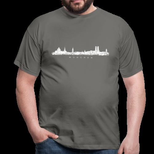 München Skyline (Vintage/Weiß) T-Shirt - Männer T-Shirt