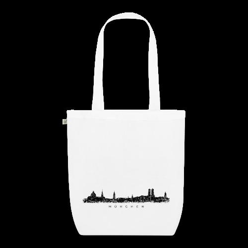 München Skyline (Vintage/Schwarz) Bio Stofftasche - Bio-Stoffbeutel