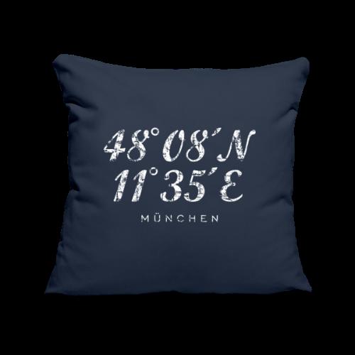 München Koordinaten (Vintage/Weiß) Kissenbezug - Sofakissenbezug 44 x 44 cm