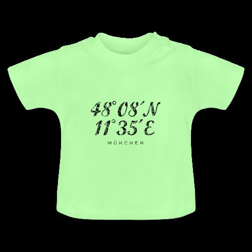 München Koordinaten (Vintage/Schwarz) Baby T-Shirt - Baby T-Shirt