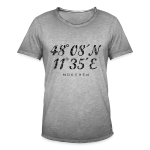 München Koordinaten (Vintage/Schwarz) Vintage T-Shirt - Männer Vintage T-Shirt