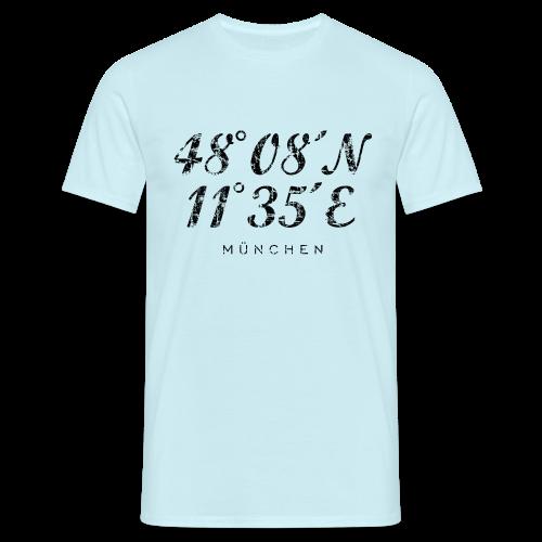 München Koordinaten (Vintage/Schwarz) T-Shirt - Männer T-Shirt