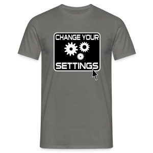 Change Settings Nerd T-Shirt - Männer T-Shirt