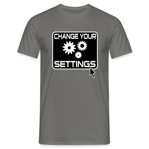 Change Settings Nerd T-Shirt - Männer T-Shirt