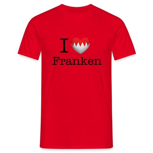 I Love Franken T-Shirt rot - Männer T-Shirt