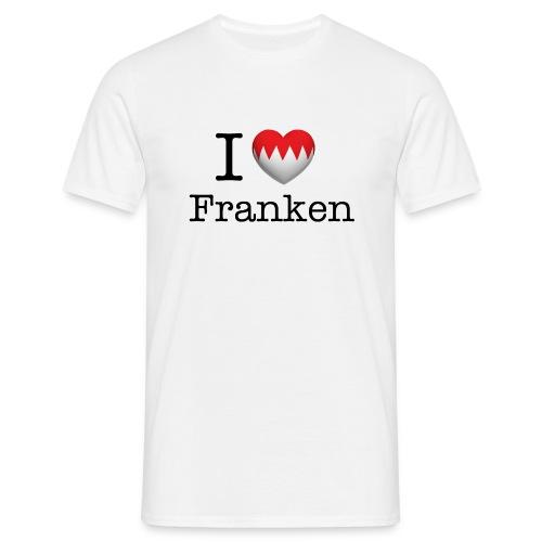 I Love Franken T-Shirt weiß - Männer T-Shirt