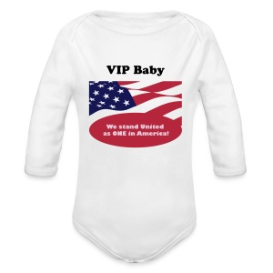 We stand United as ONE in America - Organic Longsleeve Baby Bodysuit