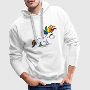 Punk Unicorn, Punky Unicorn Hoodies & Sweatshirts - Men's Premium Hoodie