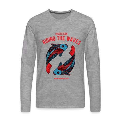 Pisces Sun Men's Premium Longsleeve Shirt - Men's Premium Longsleeve Shirt
