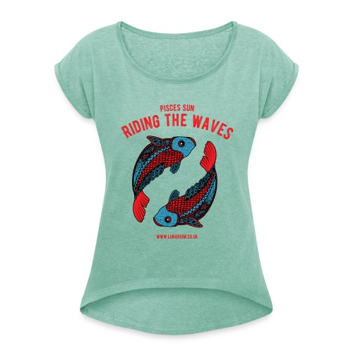 Women's T-shirt with rolled up sleeves - Women's T-Shirt with rolled up sleeves