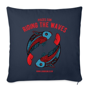 Sofa pillow cover 44 x 44 cm - with an original zodiacal design and a motto written by a professional astrologer