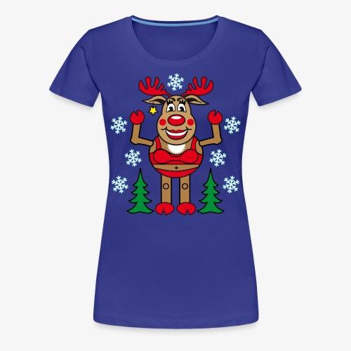 Madame Rudolphine Weihnachtsbaum Sexy Merry Chrismas Frauen T-Shirt - Frauen Premium T-Shirt